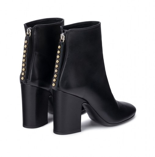 Leather ankle boot with heelBACK