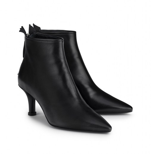 Leather ankle boot with heel_front