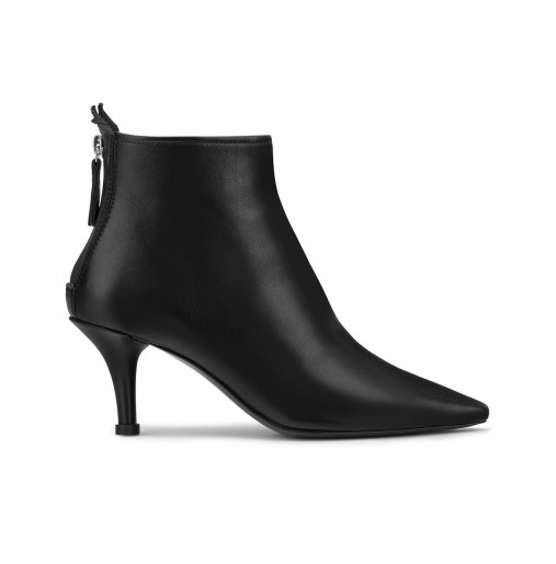 Leather ankle boot with heel_side